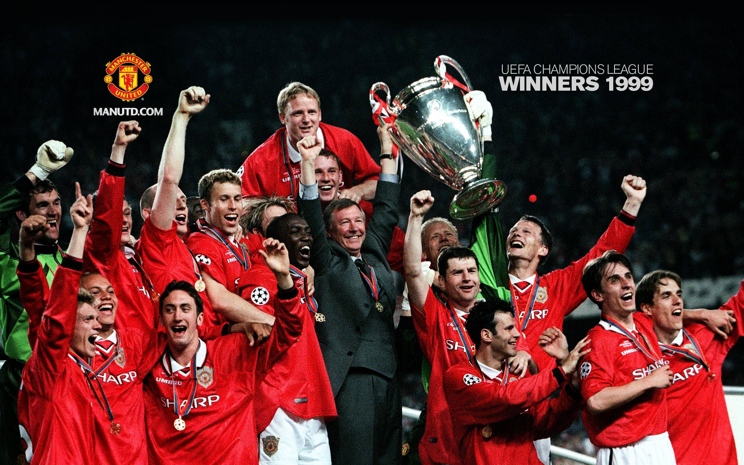 Uefa Champions League 1999 Manchester United Champions Manchester United Players Manchester United Football Club