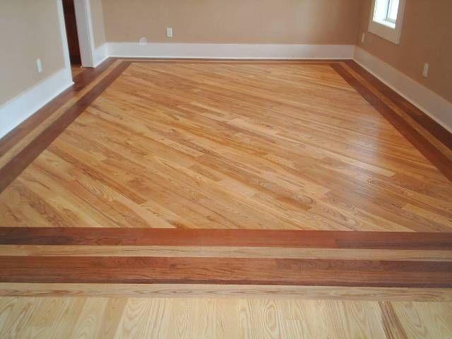 Wood floor borders hardwood flooring floor installation for Tile floor covering ideas