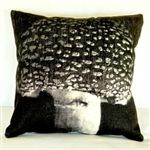 "Spotted Mushroom Pillow 18"" Square - Archival Decor"