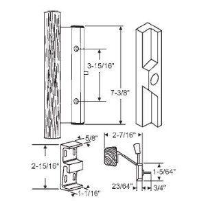 STB Sliding Glass Patio Door Handle Set, Mortise Type, Non Keyed, Beige
