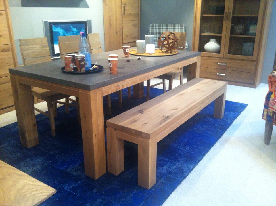 Esstisch Beton - #Beton in seiner schönsten Form. Tischplatte aus ...