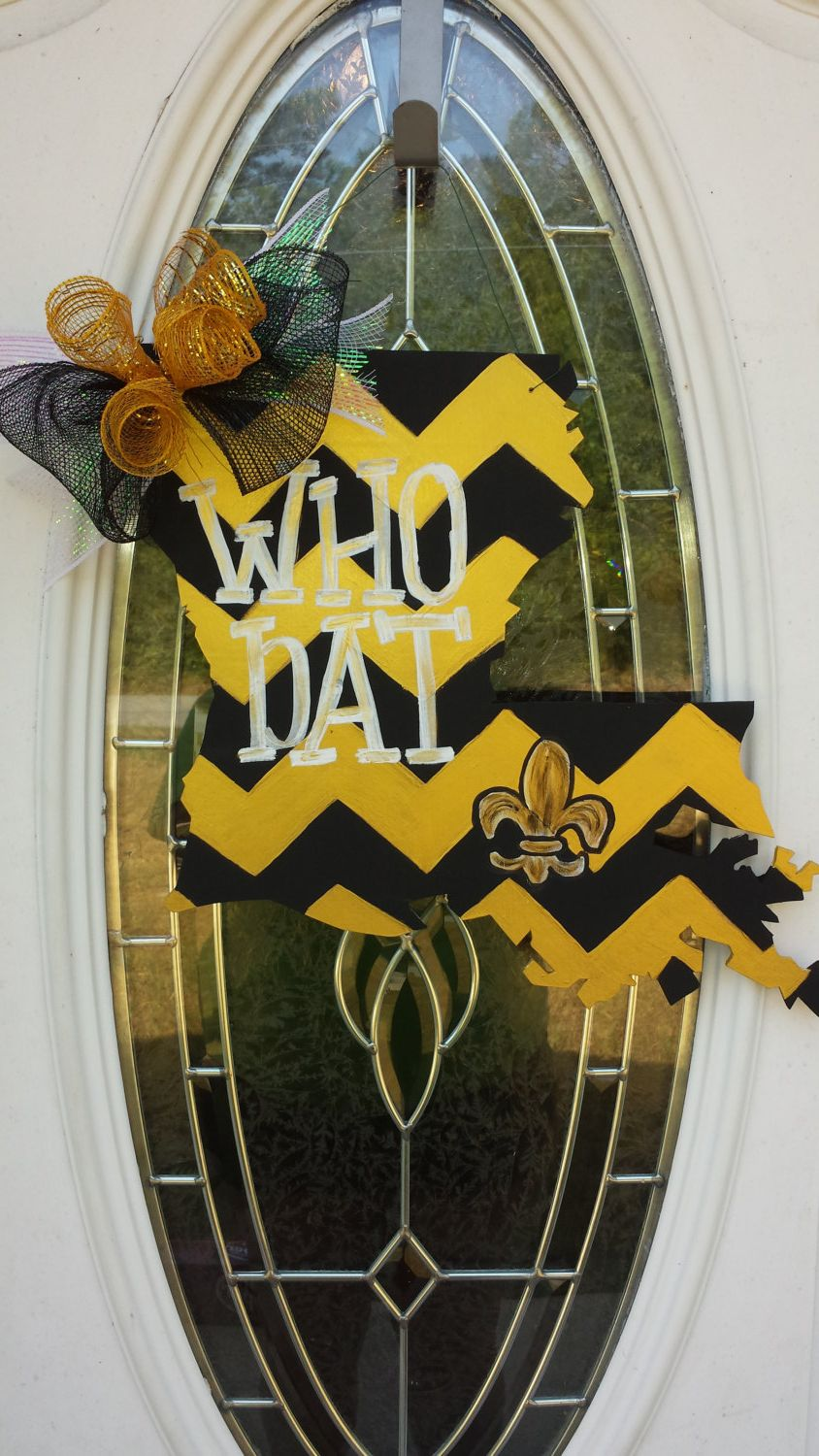 Decorative Door Hangers New Orleans Saints Who Dat Decorative Door Hanger By Occasionsshop