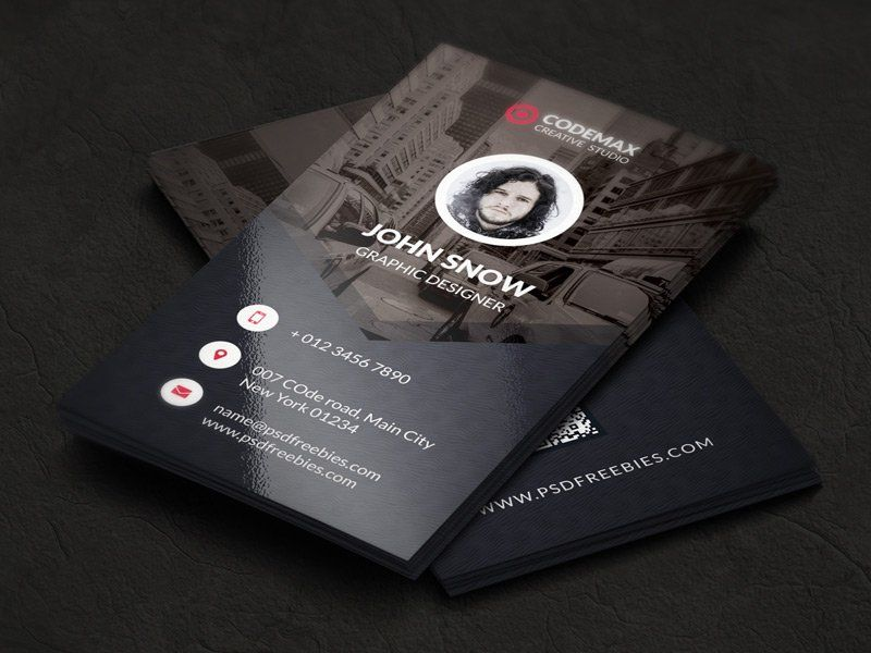 Modern Business Card Template PSD | Graphics | Pinterest | Business ...