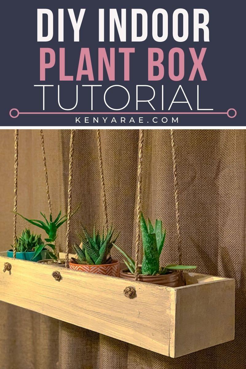Diy hanging indoor planter box indoor planter box