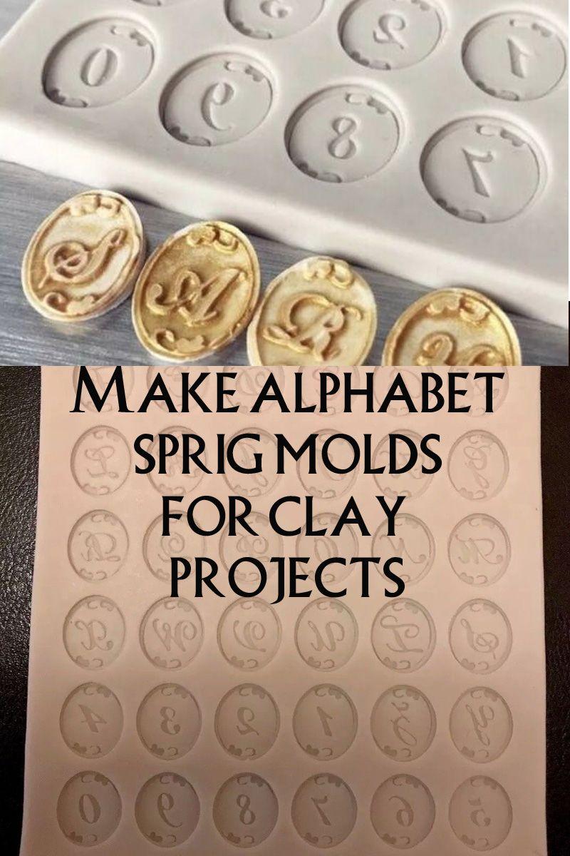 Alphabet Sprig Molds Fancy Alphabet Spring Molds Clay