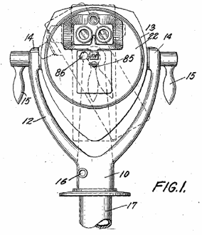 1938 Coin Operated Binoculars. US Patent 2,131,163