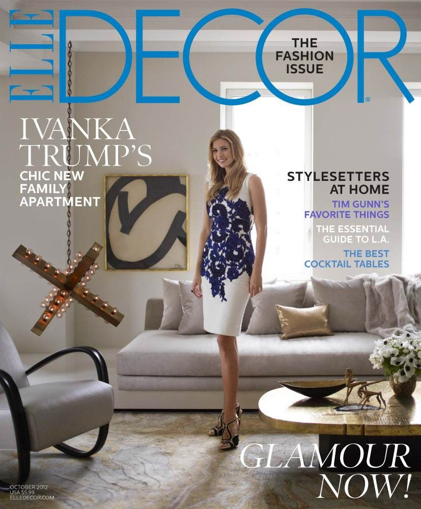 322fa35bcf0972 Ivanka Trump s Chic New York Apartment Featured In Elle Decor October 2012  (PHOTOS)