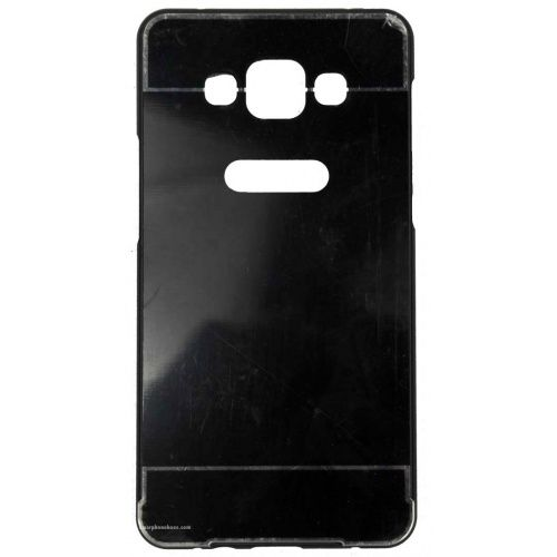 Samsung Galaxy A7 Acrylic Back Cover met Aluminium Bumper Zwart