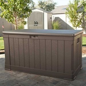 Lifetime Outdoor 116 Gallon Deck Storage Box And Bench