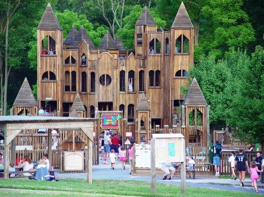 kids tree houses with slides. Kids Castle Is An Eight Story Wooden Playground Located In Doylestown, PA. It\u0027s . Tree Houses With Slides