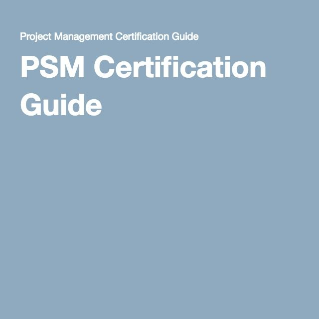 Psm Certification Guide Scrum Pinterest