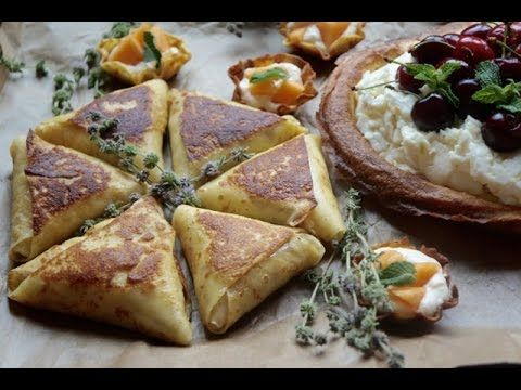 Crepes Triangles Filled With Cream Cheese And Almonds Exclusive New Recipes Ramadan 2016 Youtube Cheese Cream Cheese Crepes