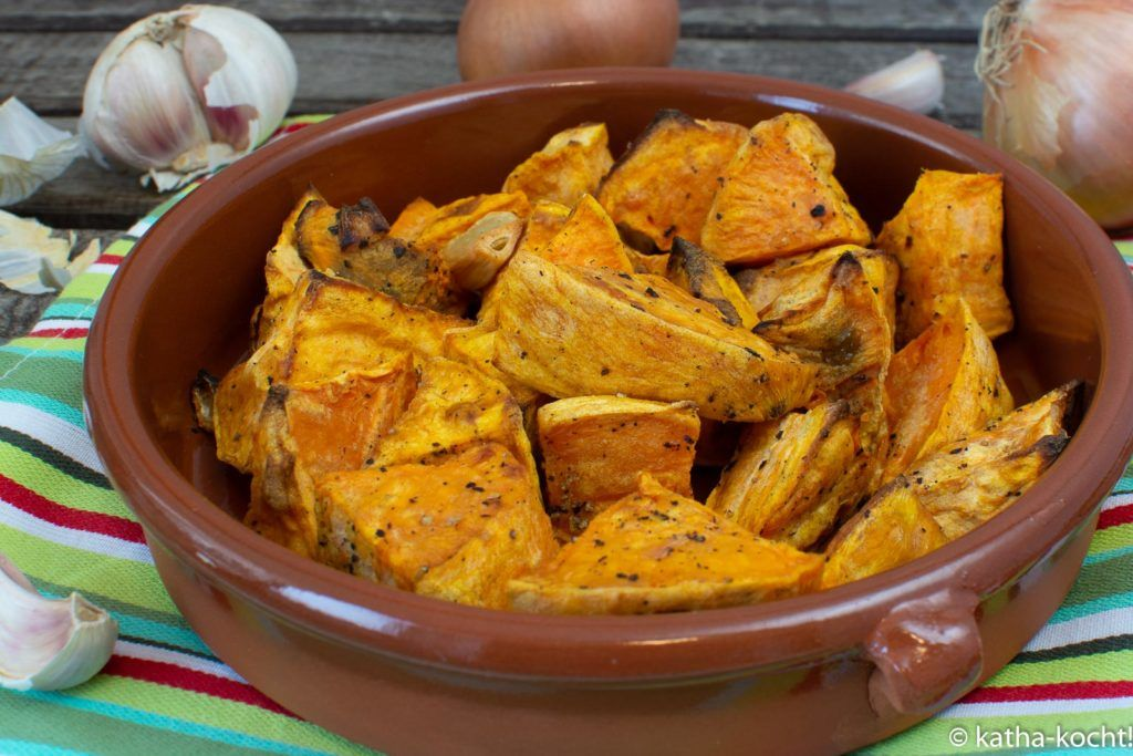 Tapas - gebackene Süßkartoffelecken - Katha-kocht!