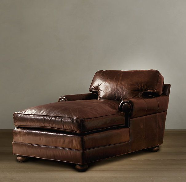 Original Lancaster Leather Chaise Leather Chaise Lounge Chair Furniture Leather Lounge