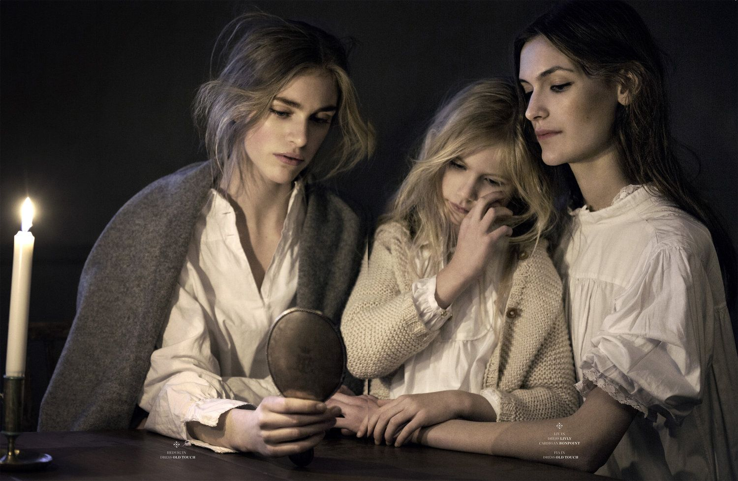 four sisters: hedvig, liv, fia and tuva by elisabeth toll for scandinavia ssaw a/w 13 | visual optimism; fashion editorials, shows, campaigns & more!