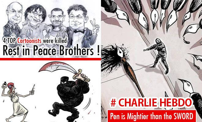 Cartoonists Pay Tribute To Charlie Hebdo Attack Victims 25 Cartoons Cartoonist Charlie Hebdo Attack Charlie Hebdo