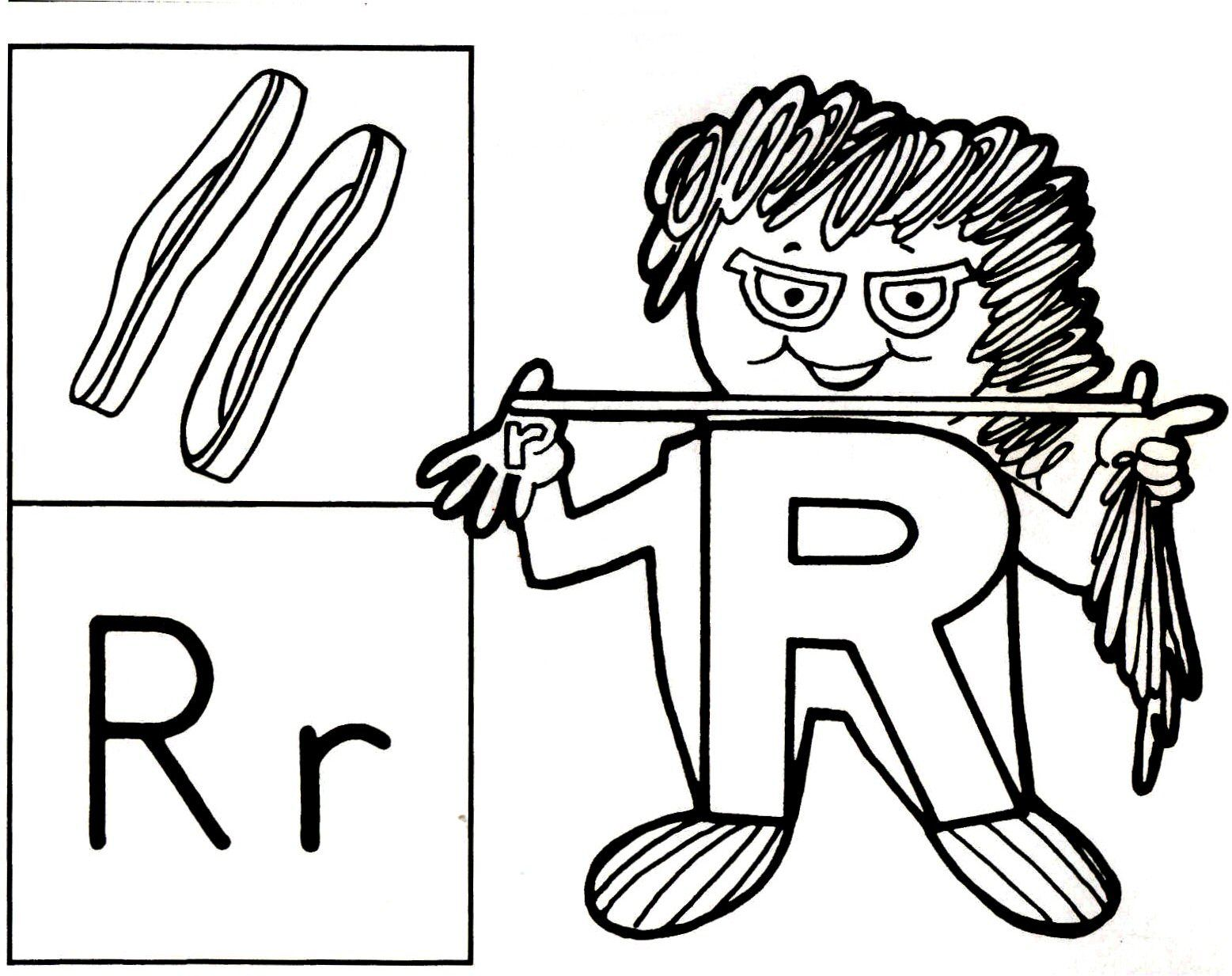 Letter Person R [Printable Coloring Page] | Coloring Pages ...
