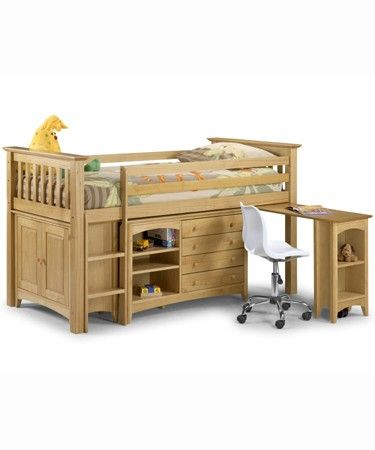 love that it isn't as high as a traditional loft bed, but has storage underneath