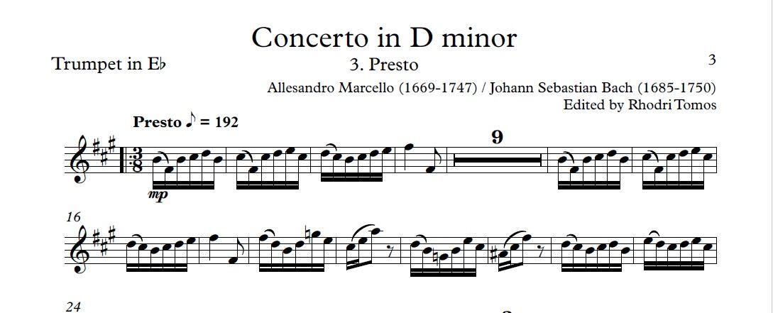 Marcello Bach Bwv974 Concerto In D Minor Accompaniment Mp3