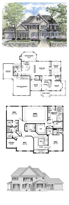 Cool house plan id chp total living area sq ft bedrooms  bathrooms houseplan luxuryhome also shingle style rh pinterest