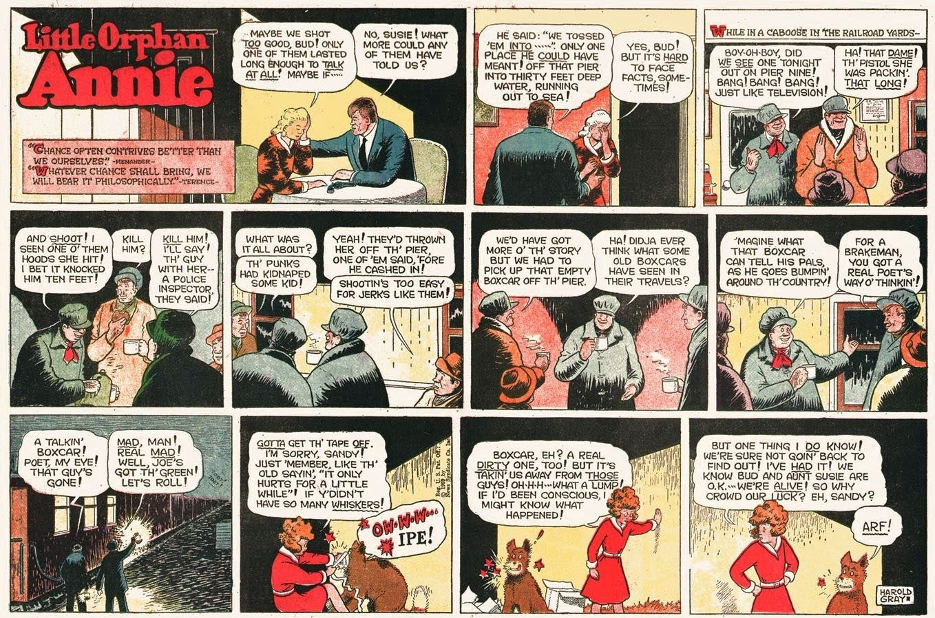 Little Orphan Annie Comic Strip Created By Harold Gray Ran From 1924 To 2010 Cómic Strip Cómic Tiras De Prensa