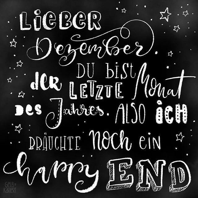 Weihnachtskarten mit Faux Calligraphy gestalten - Gelbkariert #hallodezember