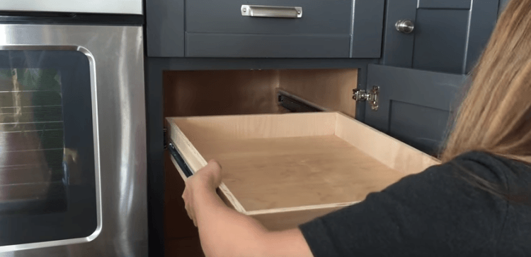 How to Convert Cabinet Shelves into Cabinet Drawers in ...