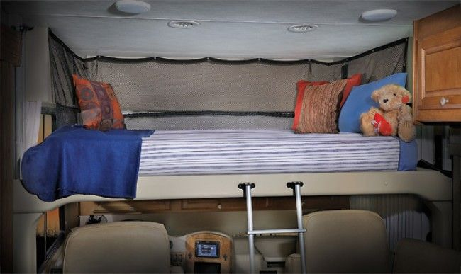 Drop Down Bed Over Driver Bus Conversion Class A Rv