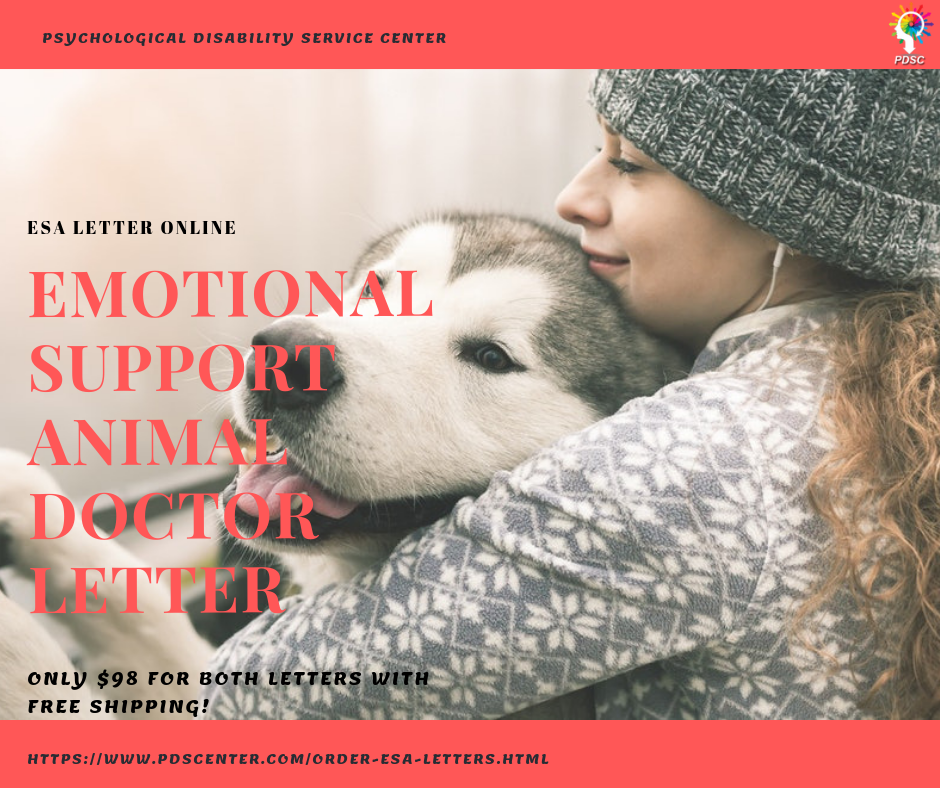 An Emotional Support Animal Letter lets you live and