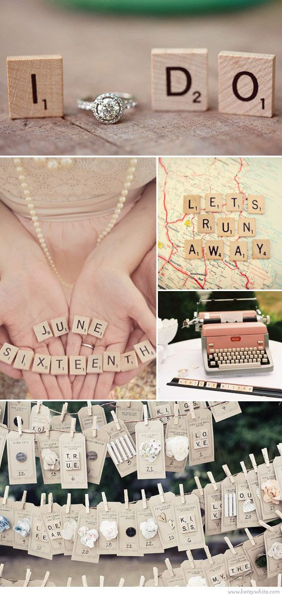 Weddings and Scrabble: Love Letters!