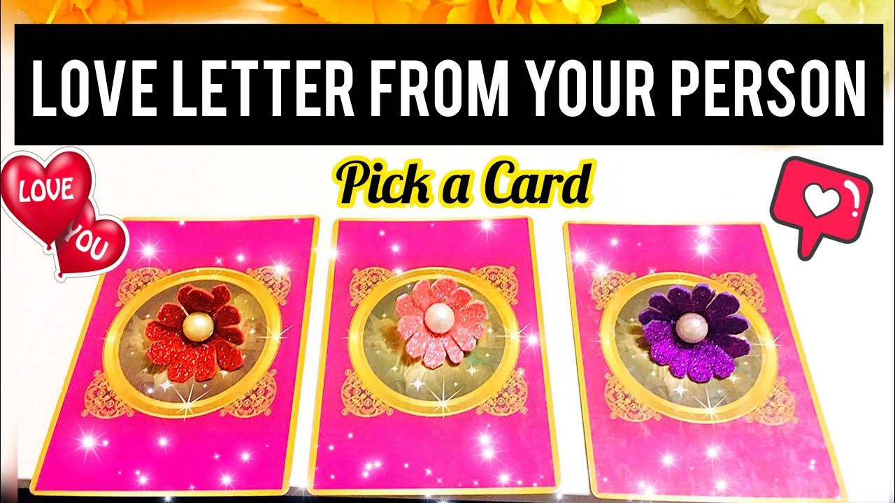 Pick a card message from your person love letter apke