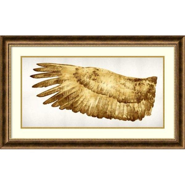 Kate Bennett \'Golden Wing I\' Framed Art Print 36 x 22-inch (14.380 ...