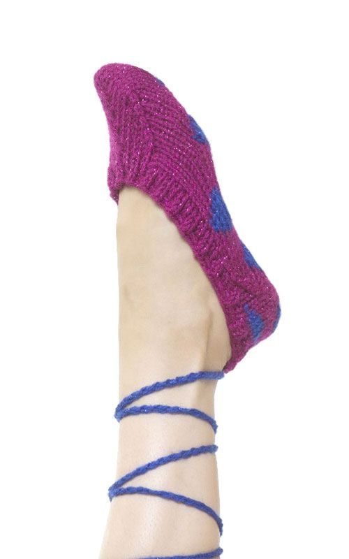 knit slippers pattern | Eme | Pinterest | Zapatos tejidos, Tejidos ...