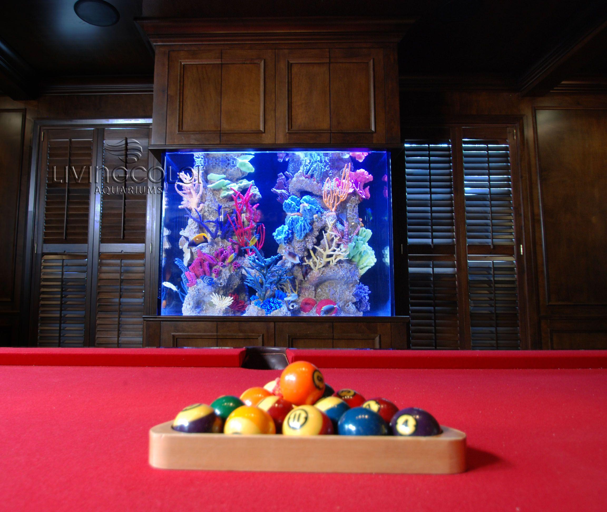 Fish tank pool table - Pool Table Custom Aquarium Dimensions 60 X 24 X 48 H 350
