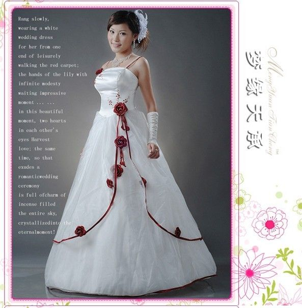Trending Red Rose Wedding Dresses red rose wedding dresses