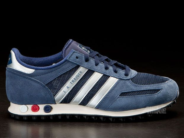 Adidas LA Trainer Navy | Mens casual shoes, Sneakers, Shoes mens