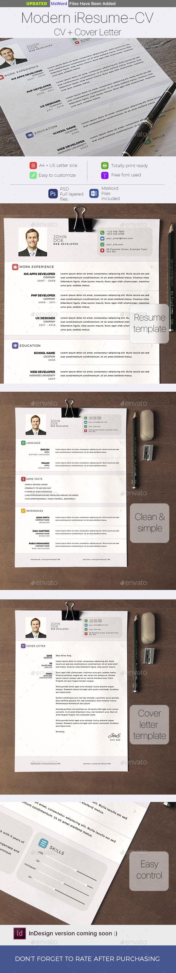 Modern i Resume Resumes Stationery Download