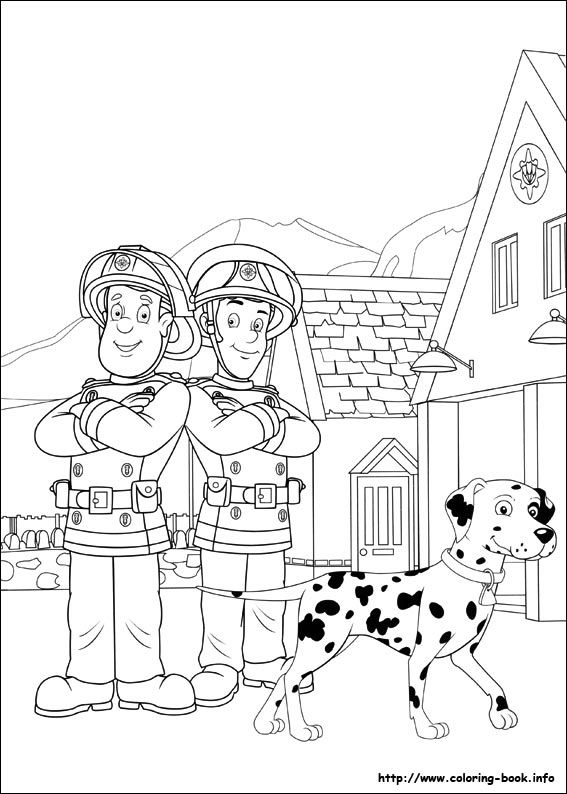Fireman Sam coloring picture coloring pages Pinterest Fireman