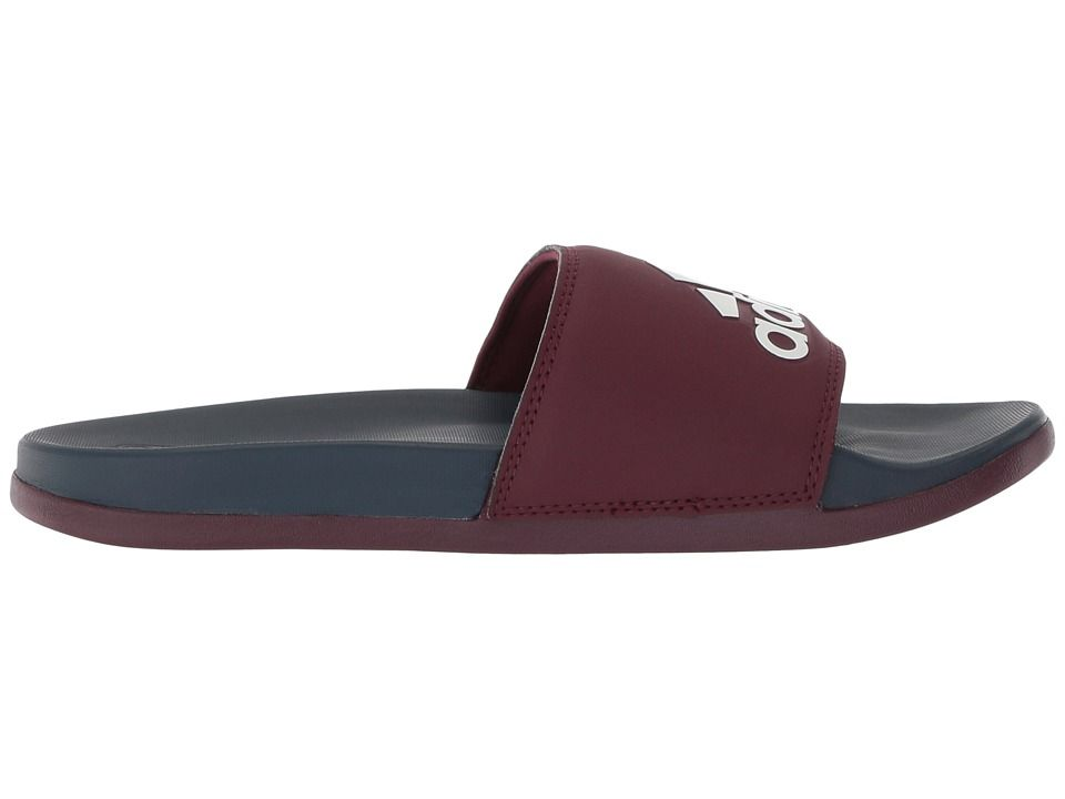 fa26655e610 adidas Adilette CF+ Logo Men s Slide Shoes Maroon Maroon White ...