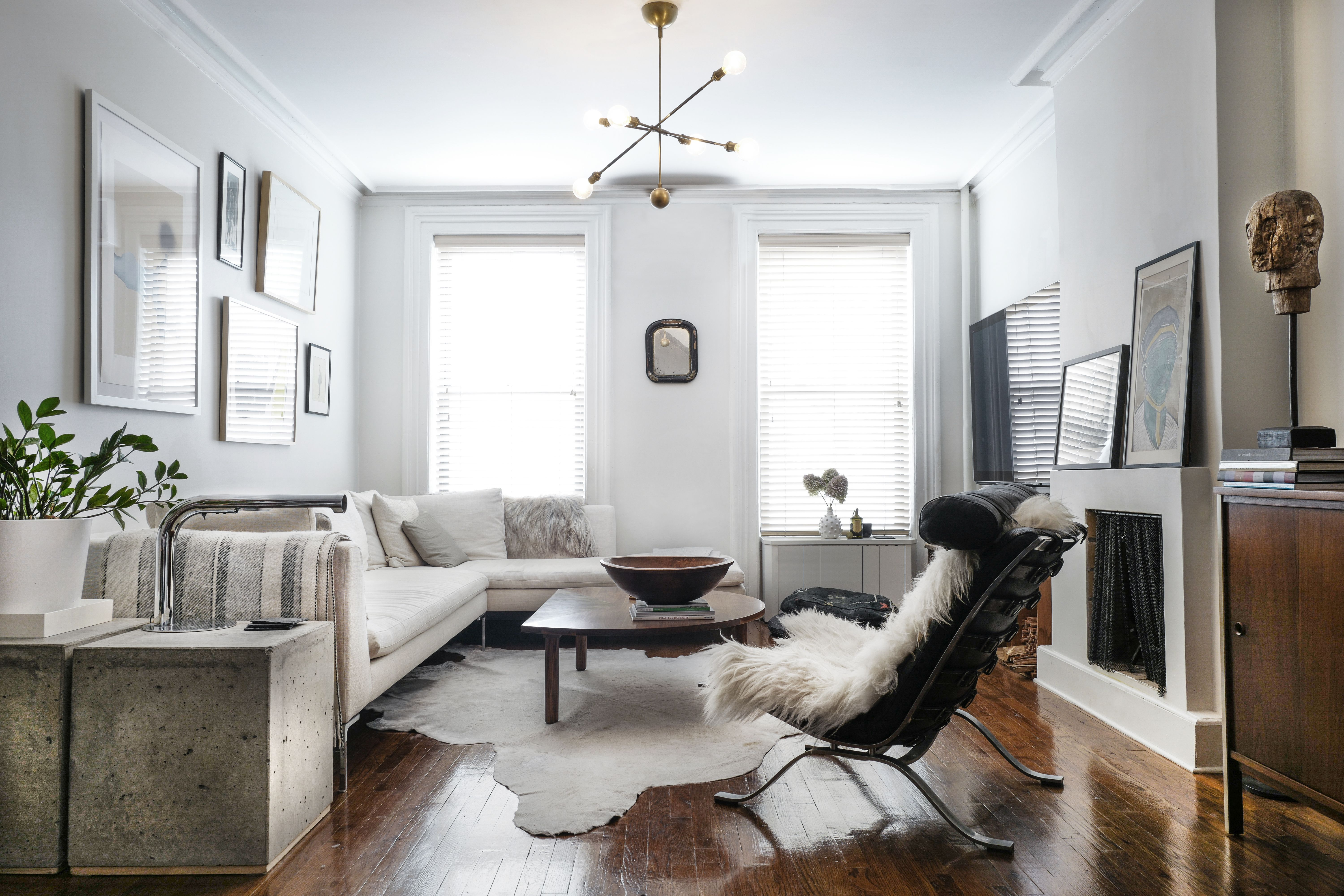 Photo 4 Of 16 In A Design Duo S 19th Century Brooklyn Townhouse Is Livingroom Layout Long Living Room Long Living Room Layout
