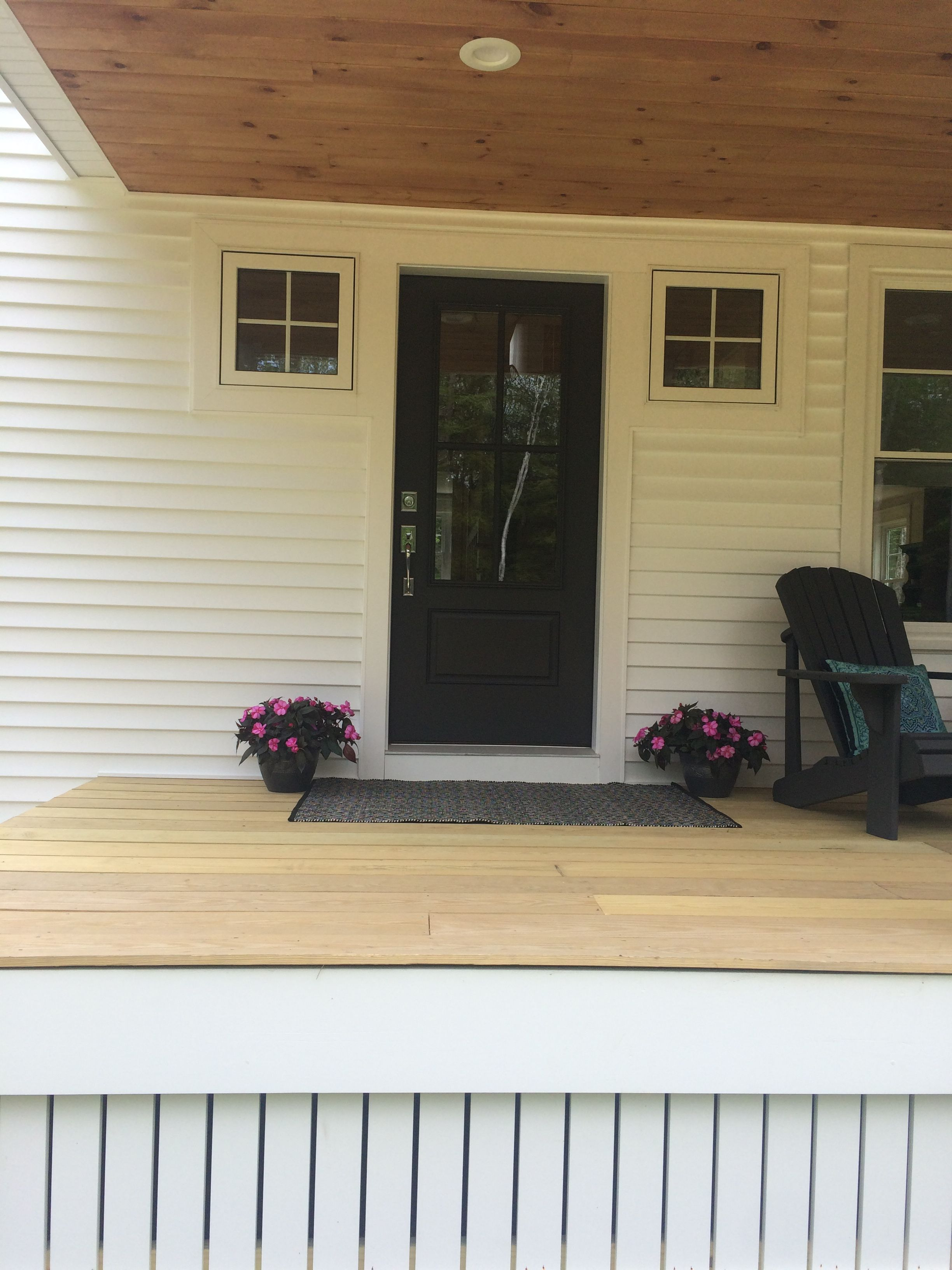 Farmhouse Porch, Front Door In Sherwin Williams Iron Ore