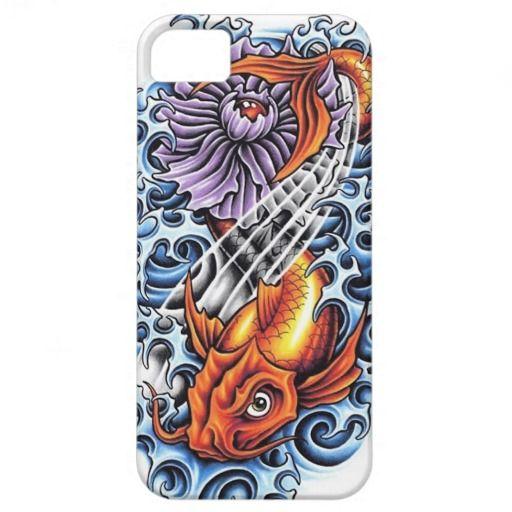 Cool Japanese Lucky Koi Carp purple Lotus tattoo iPhone 5 Cases by TheGreatestTattooArt #iPhone5 #iphone #smartphone #case #cover #japan #japanese #phonecases #oriental #gift #customizable