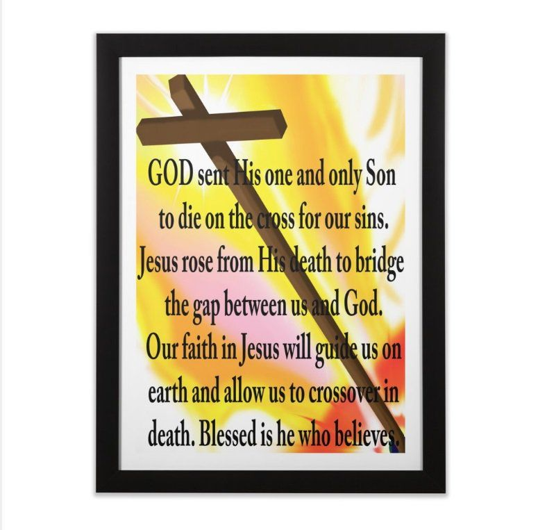 Jesus Bridge wall art #Jesus #God #Love #Believe #Faith #art #tshirt ...
