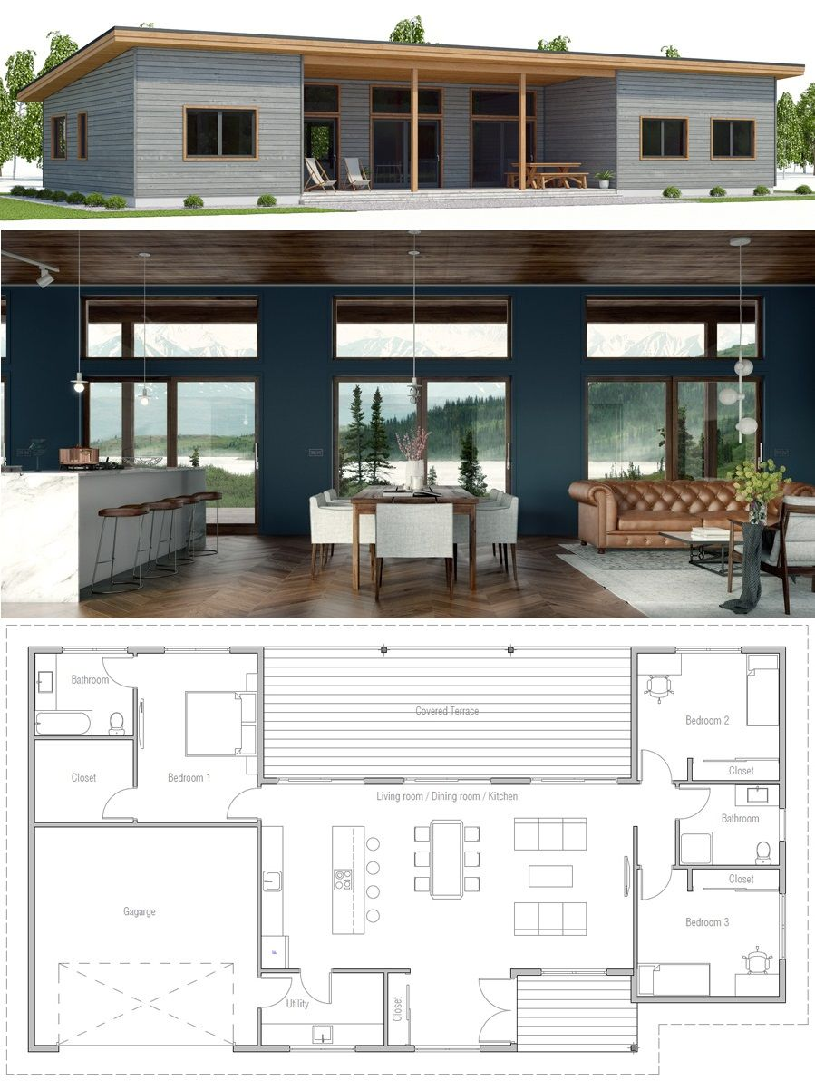 Single story home plan also small houses in pinterest house rh