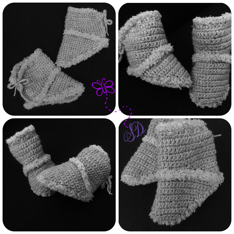schuhe baby häkeln crochet boots Principessacrocheta | !Meine Werke ...