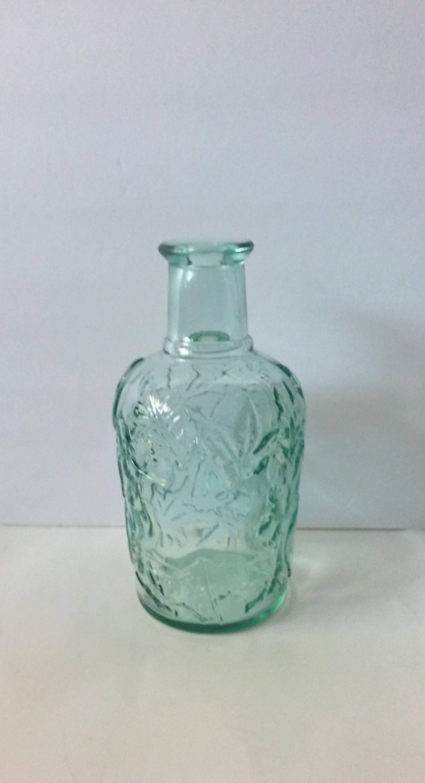 Canada Maple Leaf Green Glass Bottle Beautiful! Wedding Kitchen ...