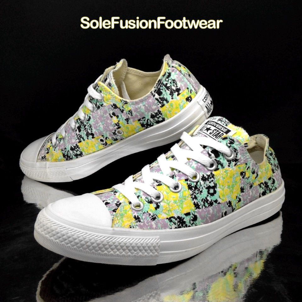 66b3afc0a011 Converse Womens All Star Floral Trainers White size 7 Ladies Sneakers US 9 EU  40
