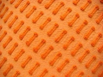 Morgan Jones Coral Buttonhole Vintage Chenille Fabric 18 x 25 Inches