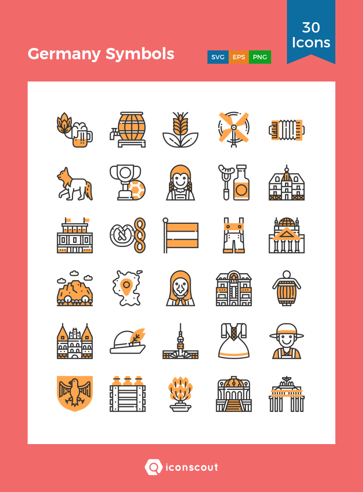 Download Germany Symbols Icon pack Available in SVG, PNG