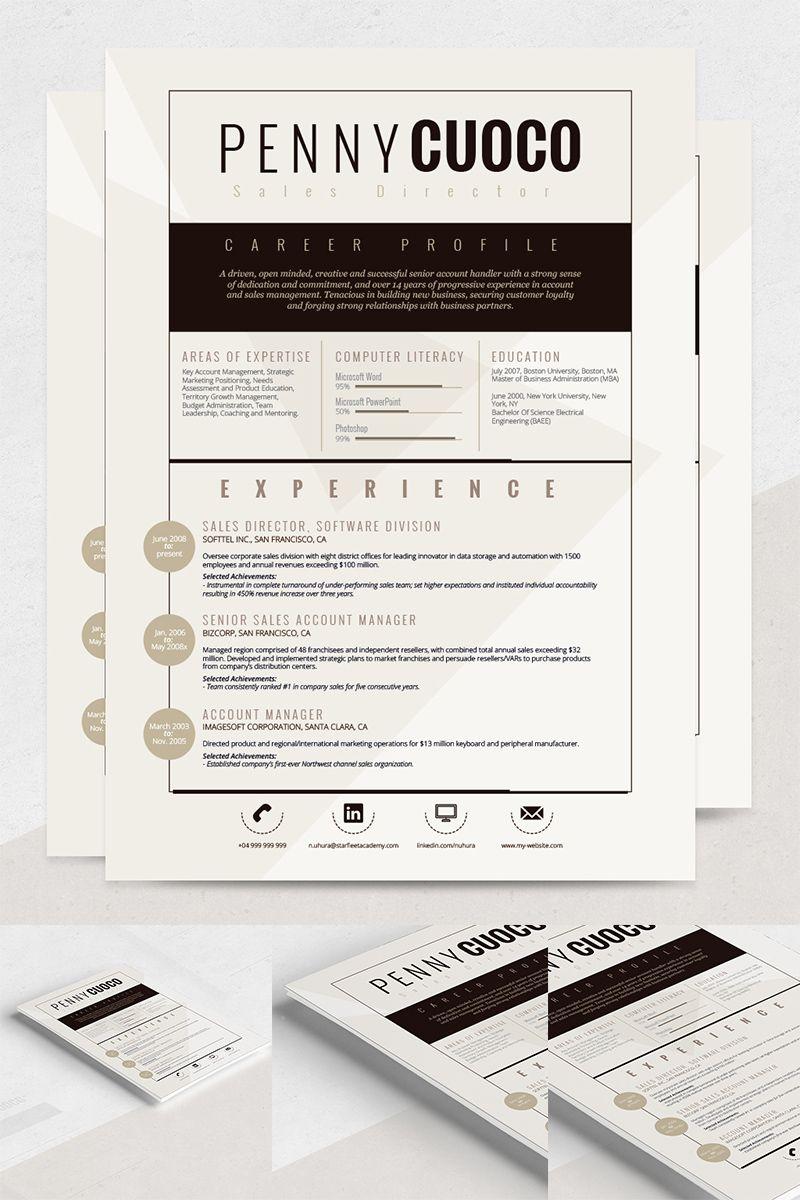 Resume WordPress Theme Responsive CV Template by